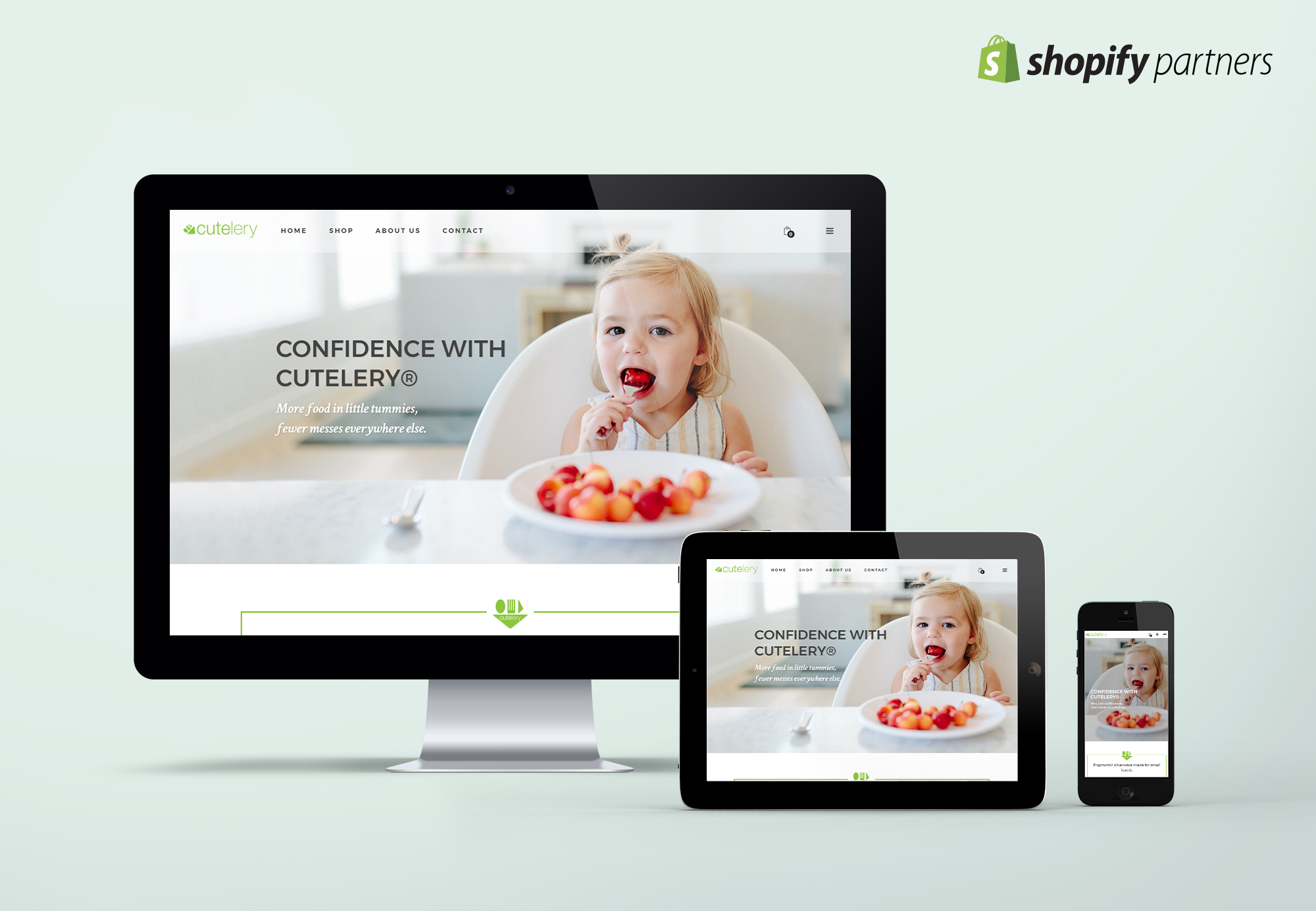 Cutelery 1: website is responsive and mobile-friendly