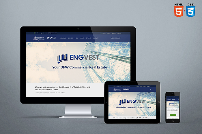 Engvest Website Design